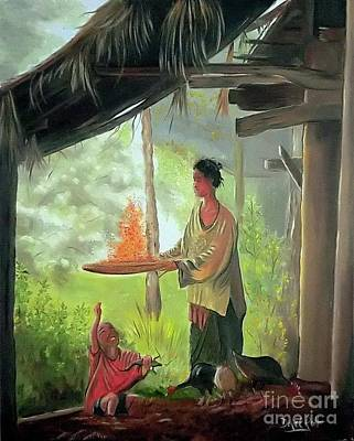 Thai Artist Artists Painting - Every Day In The Thai Country Life by Derek Rutt