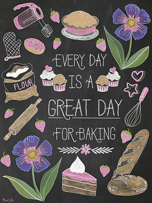 Donuts Painting - Every Day Is A Great Day For Baking by Little Bunny Sunshine