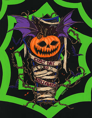 Hartwell Painting - Every Day Is Halloween by Steve Hartwell
