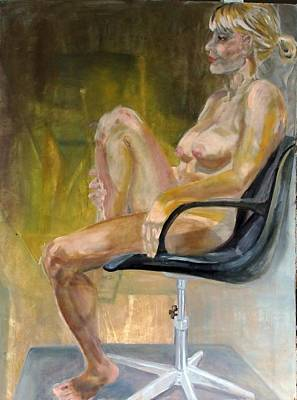 Empty Chairs Painting - Every Empty Chair Has It's Own Ghost   by Irene Vital