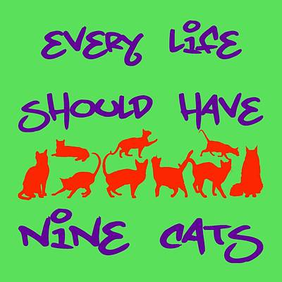 Royalty-Free and Rights-Managed Images - Every Life Should Have Nine Cats by David G Paul