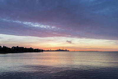 Photograph - Every Morning Is Different - Toronto Skyline With An Awesome Cloudbank by Georgia Mizuleva