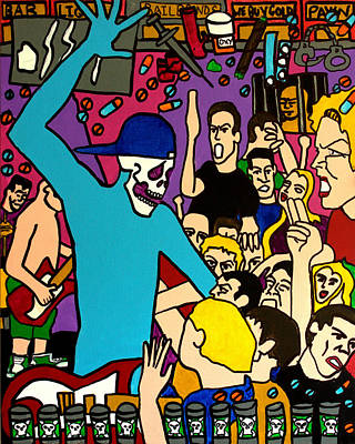 Hop Drawing - Every Night Its A Party by Arne Henn