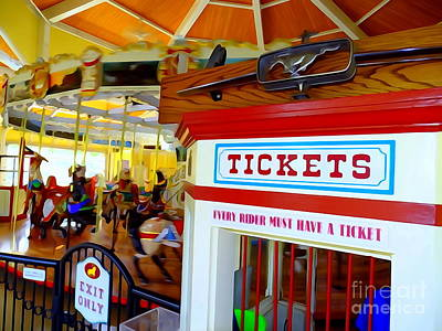 Digital Art - Every Rider Must Have A Ticket by Ed Weidman
