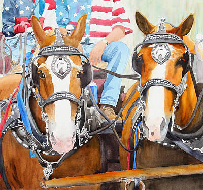 Carriage Driving Painting - Everybody Loves A Parade by Ally Benbrook