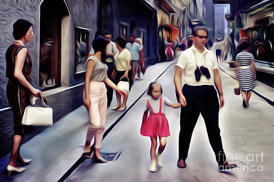 Surrealism Royalty Free Images - Everyday People in Surreal Explanations Royalty-Free Image by Wernher Krutein