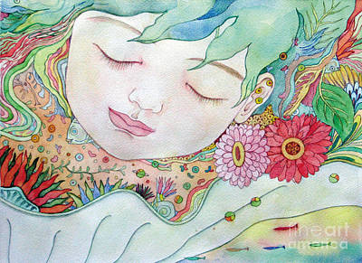 Painting - Everything Is A Child Of The Earth by Fumiyo Yoshikawa
