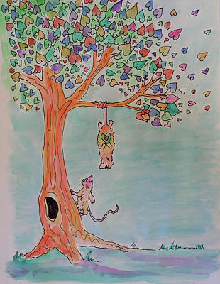 Inner Child Painting - Everything Is Different by Bonnie Kelso