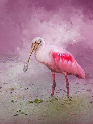 Spoonbill Photograph - Everything Is Rosie by Marvin Spates