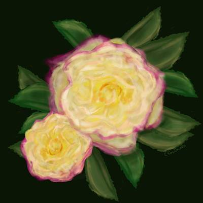 Painting - Everything Is Rosy by Christine Fournier
