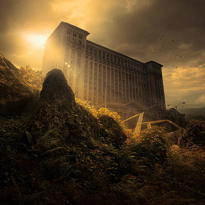 Abandoned Digital Art - Everything Must Perish by Michal Karcz