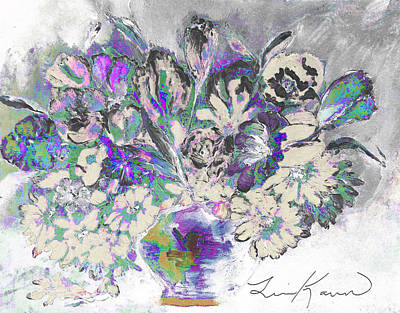 Flower Painting - Everything You Don't Expect Valentine's Flowers by Lisa Kaiser