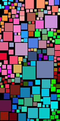Abstract Digital Art - Everywhere Square 14 by Chris Butler