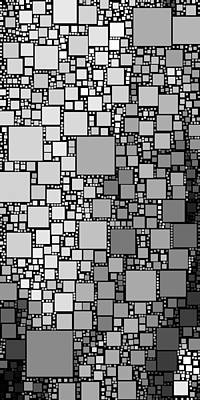 Abstract Digital Art - Everywhere Square 15 by Chris Butler