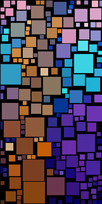Color Digital Art - Everywhere Square 26 by Chris Butler