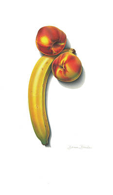 Drawing - Eve's Favorite Fruit by Donna Basile
