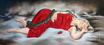 Eve's Temptation - Death Art Print by Ilse Kleyn