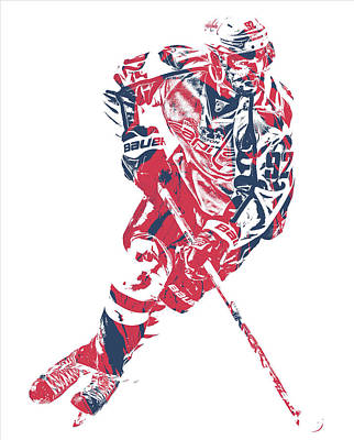 Mixed Media - Evgeny Kuznetsov Washington Capitals Pixel Art 1 by Joe Hamilton