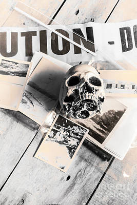 Skull Photograph - Evidence Of Old Crimes by Jorgo Photography - Wall Art Gallery