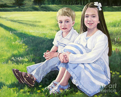 Painting - Evie And Kenneth by Kathryn Donatelli