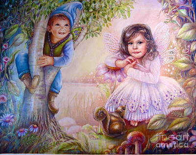 Painting - Evie And Luke by Patricia Schneider Mitchell