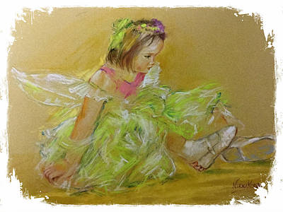 Tinkerbell Painting - Evie At Christmas by Nikki Keep
