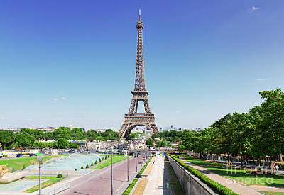 Paris Skyline Royalty-Free and Rights-Managed Images - Eviffel Tower with Fountains by Anastasy Yarmolovich