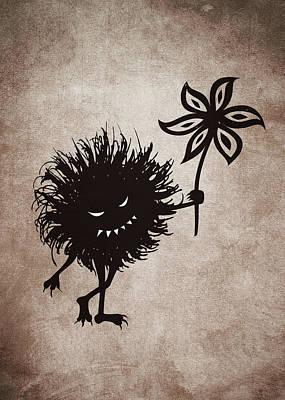 Evil Bug Gives Flower Art Print