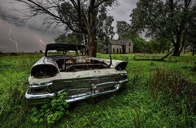 Photograph - Evil Dead - Lightning by Aaron J Groen