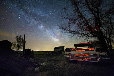 Photograph - Evil Dead Milky Way  by Aaron J Groen