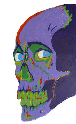 Heavy Metal Painting - Evil Dead Skull by Manik Designs