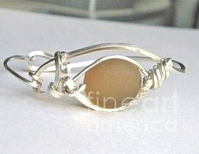 Wire Wrap Bracelet Jewelry - Evil Eye  by Lisa DiNoia