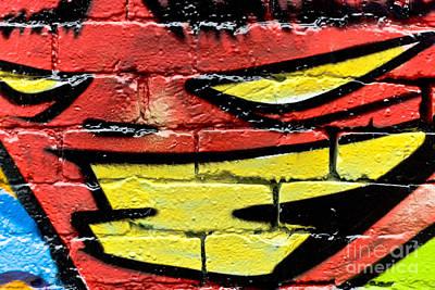 Vandalize Painting - Evil Graffiti Face by Yurix Sardinelly