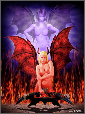 Photograph - Evil Of The Succubus by Jon Volden