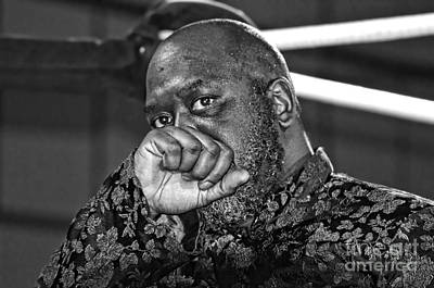 Photograph - Evil Pro Wrestling Manager Caesar B Black Black And White Version by Jim Fitzpatrick
