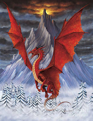 Evil Red Dragon Art Print