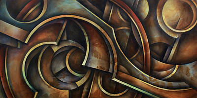 Mechanical Painting - Evolution by Michael Lang
