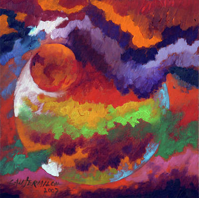 Painting - Evolution Of A New Planet by John Lautermilch