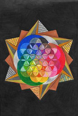Pyramids Mixed Media - Evolution Of Color by Alleena Tribble