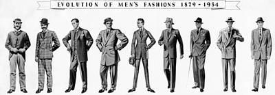 Evolution Of Menswear From 1879 Art Print by Everett