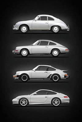 Porsche 911 Turbo Photograph - Evolution Of The 911 by Mark Rogan