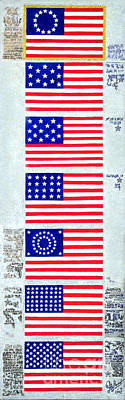 July 4 Painting - Evolution Of Us Flag by Sofia Metal Queen