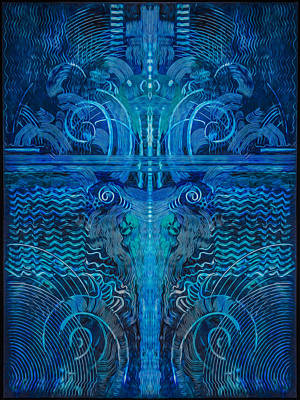 Digital Art - Evolving In Blue by Judith Barath