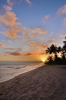 Tropical Scene Photograph - Ewa Beach Sunset 2 - Oahu Hawaii by Brian Harig