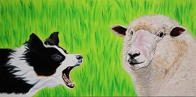 Painting - Ewe Talk'in To Me? by Sonja Jones
