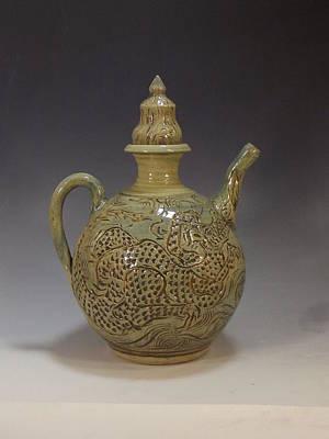Ceramic Art - Ewer by Stephen Hawks