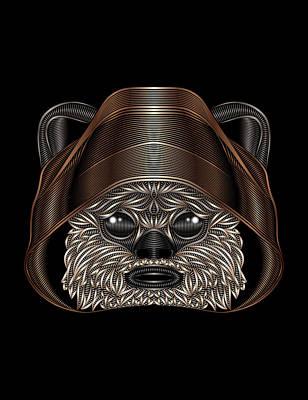 Ewok Digital Art - Ewok by Nathan Owens