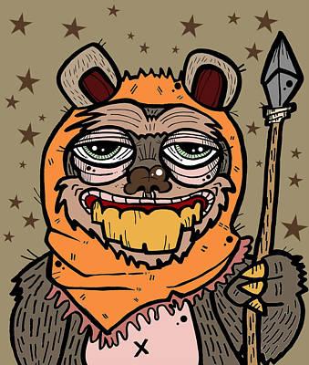 Ewok Painting - Ewok by Nicole Wilson