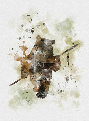 Boba Mixed Media - Ewok by Rebecca Jenkins