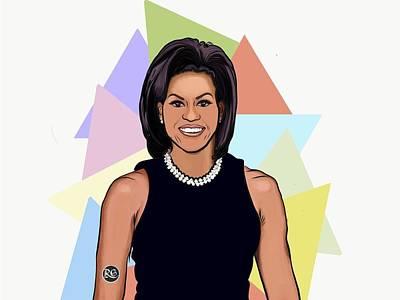 Michelle Obama Digital Art - Ex-flotus by Reema Gandhi